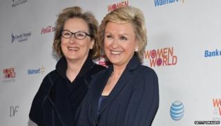 Meryl Streep and Tina Brown