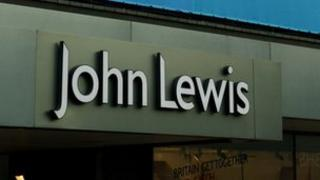 John Lewis shop sign