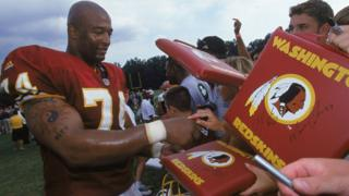 Nolan Harrison signs autographs in 2000