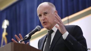 California Gov Jerry Brown in Sacramento, California on 29 May 2013