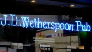 JD Wetherspoon pub sign