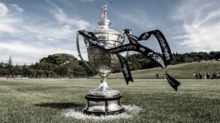 Scottish Hydro Camanachd Cup trophy