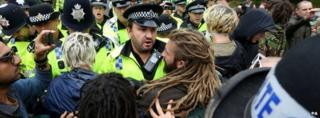 Protests and police in Balcombe