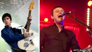 Johnny Marr and James Dean Bradfield of Manic Street Preachers