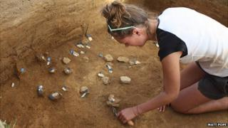Archaeological dig at Les Varines, in St Saviour, Jersey