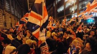 Union flag protest outside Belfast City Hall on 3 December 2012