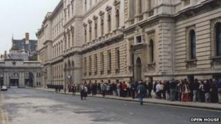 Queues at the Foreign Office in the 1990s
