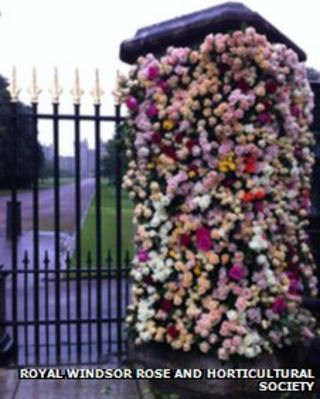 Floral display at Windsor Castle