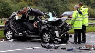 Car crashes into horses in Wickford, Essex