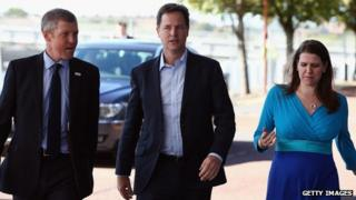 Willie Rennie, Nick Clegg, Jo Swinson