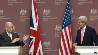 William Hague, John Kerry