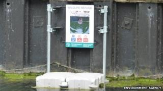 Otter refuge on the River Welland