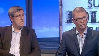 Sinn Fein Education Minister John O'Dowd and DUP Finance Minister Simon Hamilton
