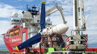 AR1000 turbine. Pic courtesy of Atlantis Resources Corporation