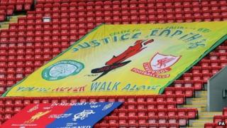 Hillsborough memorial flag