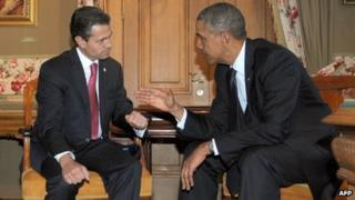 Enrique Pena Nieto and Obama, St Petersburg