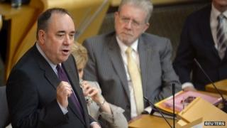 Alex Salmond during independence debate