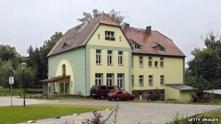 House in Templin, eastern Germany, where Angela Merkel lived with her family on the second floor