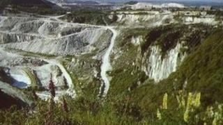China clay pit