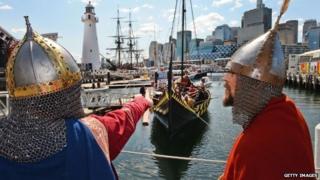 Viking re-enactors in Sydney