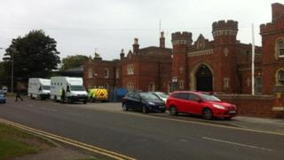 Emergency services outside Lincoln Prison