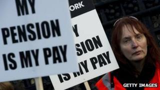 pension protestor