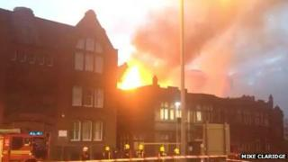 West Bromwich College fire