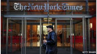 New York Times exterior