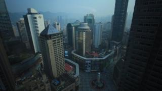 China's south-west metropolis of Chongqing in China