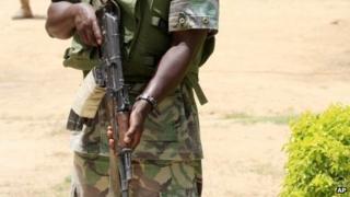 A Nigerian soldier - June 2013
