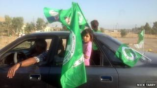 PUK supporters in Rania