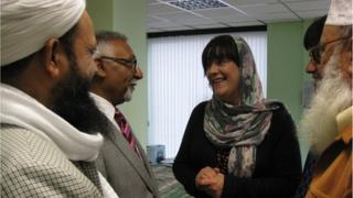 Louis Bours of UKIP meets Muslims at the Sayyida Aminah mosque in Bradford.