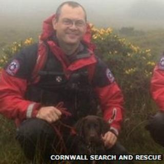 New Cornwall search and rescue dog Ziva and handler Phill Matthews. Pic: Cornwall Search and Rescue