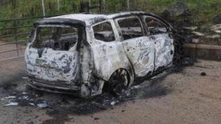 The woman's car was later found burnt out on Glenside Road