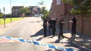 Murder scene Sheffield
