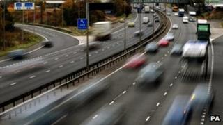 A picture of cars on a motorway