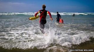 Lifeguard (Pic: RNLI/Nathan Williams)