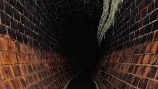 Fat residue on London sewer
