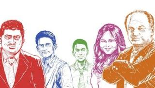 Nandan Nilekani, Ben Gomes, Rikin Gandhi, Ruchi Sanghvi and Sanjeev Bikhchandani