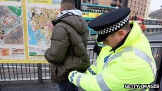 Police 'stop and search'