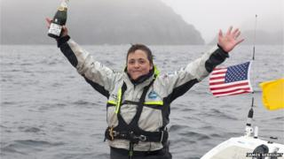 Sarah Outen arrives in Alaska