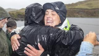 Sarah Outen makes land in Alaska