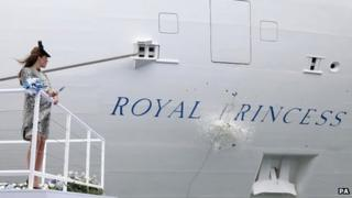 Duchess of Cambridge during the naming ceremony of the Royal Princess