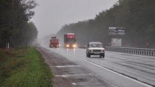Trucks on a Russian motorway