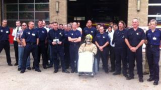 Picket at Ipswich's Princes Street fire station