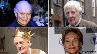 Clockwise from top left: Sir Alan Ayckbourn, Jonathan Miller, Sian Phillips, Edward Petherbridge