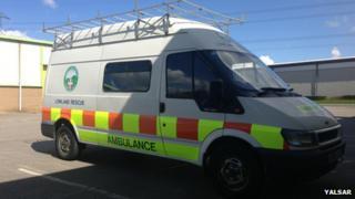 The transit van which was damaged in a break in