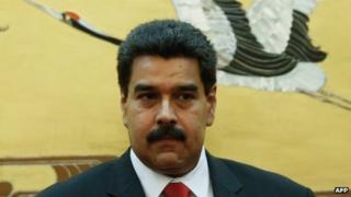 Nicolas Maduro during his visit to Beijing on 22 September, 2013