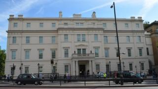 The Lanesborough Hotel is situated in Knightsbridge, west London