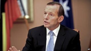 File photo: Australian Prime Minister Tony Abbott